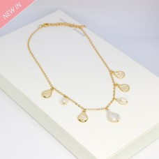 Kette Abigal, gold pearl 0