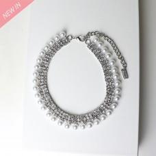 Kette Aliena, silber pearl crystal 0