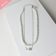 Kette Amica, silber pearl 0