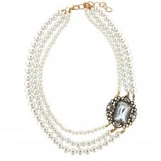 Kette Antoinette, gold pearl crystal 0