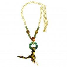 Kette Aspasia, gold braun grün 0