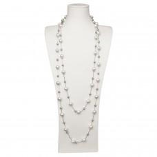 Kette Evangelia, silber pearl grau 0
