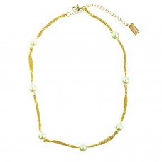 Kette Fehilde, gold Perle 0