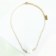 Kette Fehime, gold Perle 0