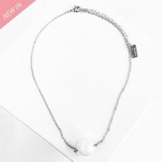 Kette Fehime, silber Perle 0
