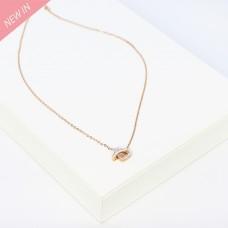 Kette Freda, rosegold crystal 0