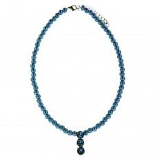 Kette Perlen, hellblau 0