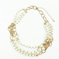Kette Regina, gold perle 0