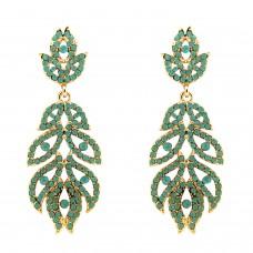 Ohrhänger Nazarena, gold li.grün opal 0