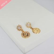 Ohrschmuck Callista, gold crystal 0