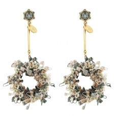 Ohrschmuck Coco Style, gold rose mix 0