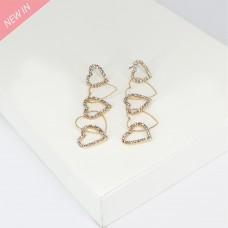 Ohrschmuck Hearts, gold crystal 0
