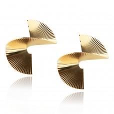 Ohrschmuck Spiral, gold 0