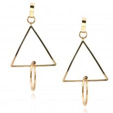 Ohrschmuck Triangel, gold 0