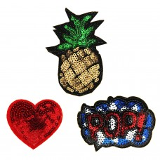 Patches Set Herz Pop Ananas 0