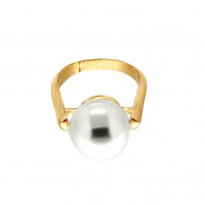 Ring Benita, gold pearl 0