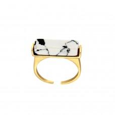 Ring Clonmei, gold weiß marmoriert 0