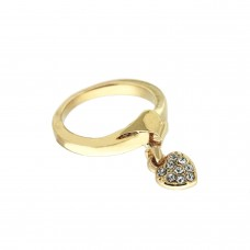 Ring Crystal Heart, gold crystal 0