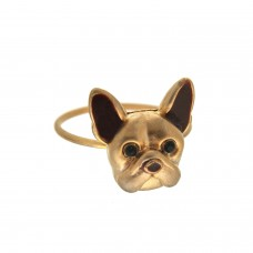 Ring Doggy, coffeegold braun 0