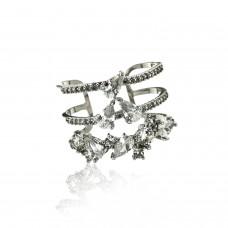 Ring Feliciana, silber crystal 0