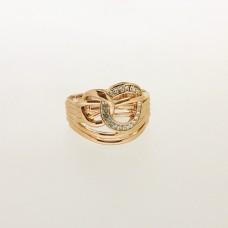 Ring, rosegold crystal 0