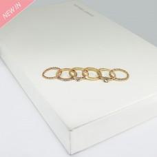 Ringset Cara, 6 tlg., gold crystal 0