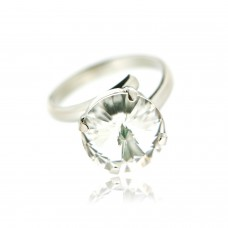 Ring Stein, silber crystal 0
