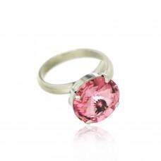 Ring Stein, silber rose 0