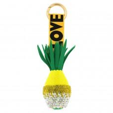 Schlüsselanhänger Ananas, gold gelb 0