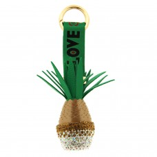 Schlüsselanhänger Ananas, gold grün 0