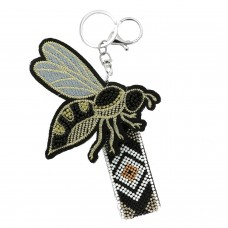 Schlüsselanhänger Bee Big Wings, weiß schwarz 0