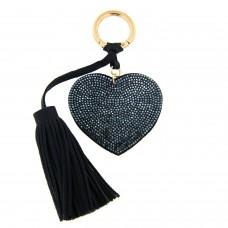 Schlüsselanhänger Heart, gold montana blau 0