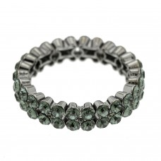 Stretcharmband Fairuz, gunmetal bl.diamond 0