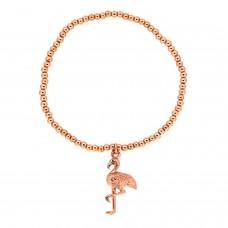 Stretcharmband Flamingo, rosegold 0