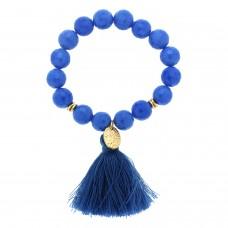 Stretcharmband Tjalda, mattgold blau 0