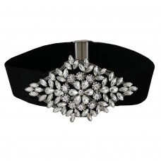 Stretchgürtel Glamour, schwarz crystal 0