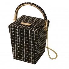 Tasche Box, schwarz gold 0