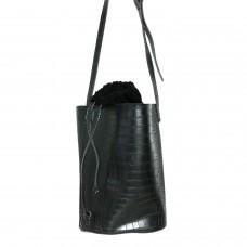 Tasche Rugby,  croco schwarz 0