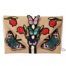 Tasche Schmetterlinge, taupe multi 0