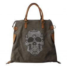 Tasche Skull, braun/kaki