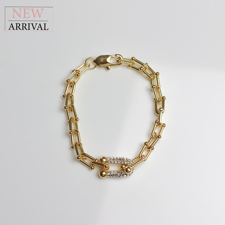 Armband Aliy, gold/crystal