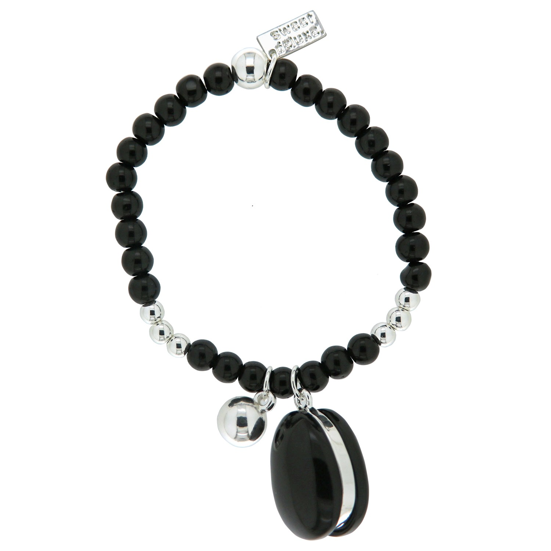 Armband Reika, silber schwarz 0