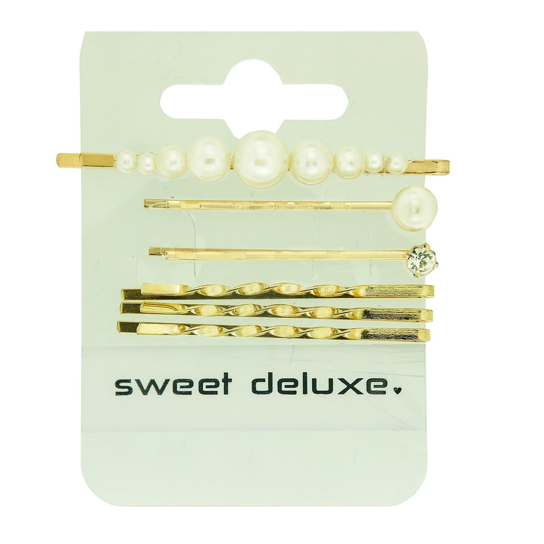 Haarschmuck Belle 2, gold pearl 0