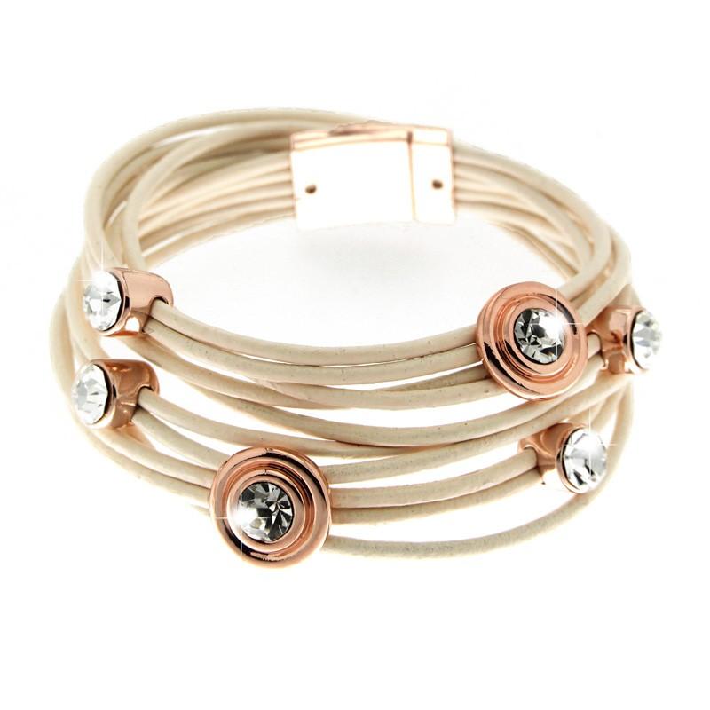 Armband Tamara, rosegold/rose/crystal 0