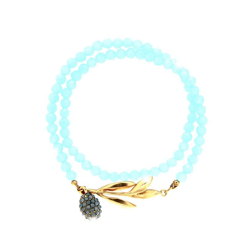 Armband Royal, mattgold/matt blau/li.blau opal 0