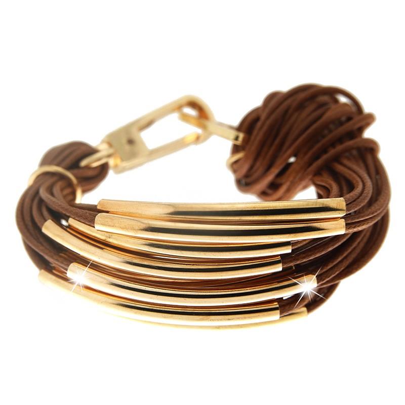 Armband Ella, gold/braun 0
