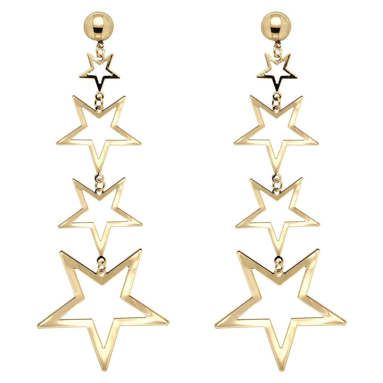 Ohrschmuck Sterne, gold 0