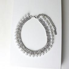 Kette Aliena, silber/pearl/crystal