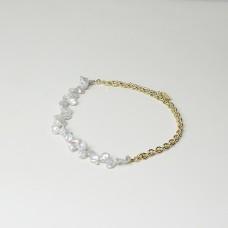 Kette Birte, gold/pearl
