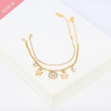 Armband-Set Elida, 2tlg.,gold crystal 0